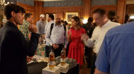 1. Tasting and talking at the Independant Spirits Expo