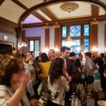 5. The throng of tasters in the high-cielinged upstairs room at the Penn Club.