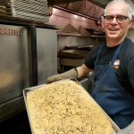 Louis Lista with his fresh-baked focaccia bread