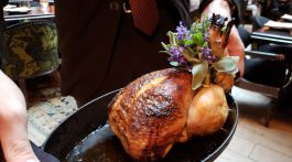 1. Our whole roast chicken with its bouquet of flowers