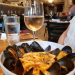 5. Mussels with tomato-caper sauce