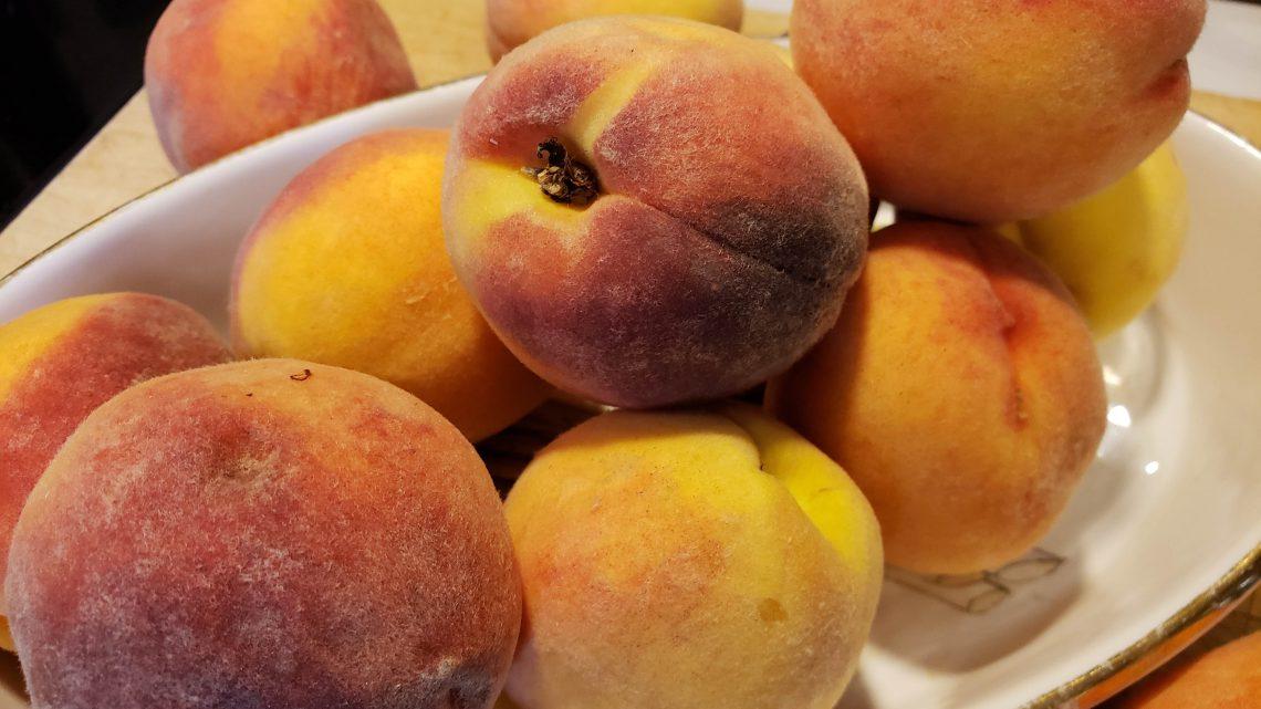 1. Ripe local peaches