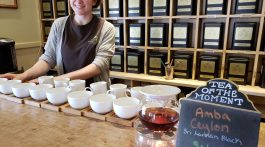 Tea tasting at Harney and Sons in Millerton, NY