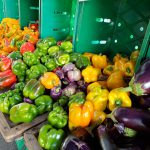 9. Eggplant and peppers from the Riverbank farm at the New Canaan market