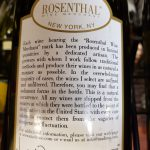 5. The Rosenthal story on the back lable of one or their imports
