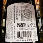 6. The Kermit Lynch logo is very clear on this bottle of Beaujolais