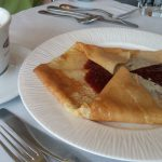 A jam-filled dessert crepe at Meli Melo